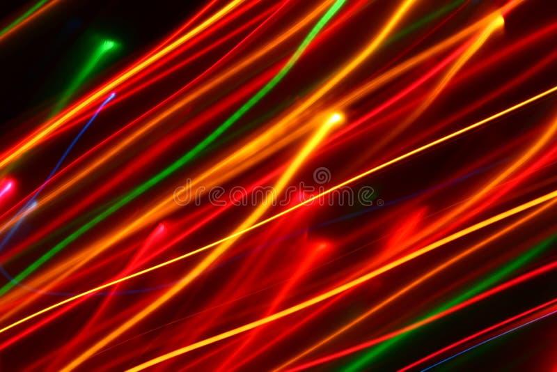 запачканные раскосные цепи световых маяков красить стоковая фотография