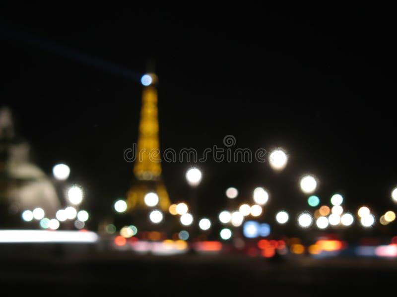 Запачканные света города, Париж стоковая фотография rf