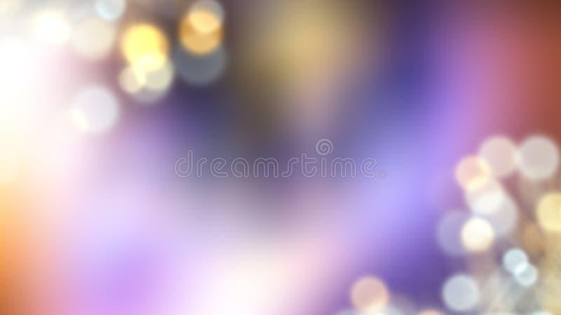 Запачканные света - красивое влияние bokeh, взгляд фантазера, 3d представить предпосылку, компьютер произвело фон иллюстрация вектора