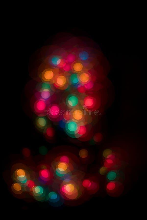 Запачканные света рождества стоковое изображение