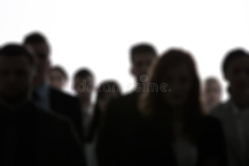 Запачканные силуэты людей стоковое изображение