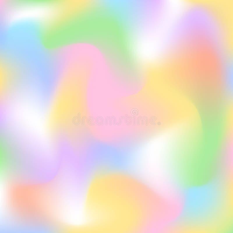 Запачканные цвета белизны желтого цвета голубого зеленого цвета мягкой красочной весны пасхи свежие ровные розовые приглаживают п бесплатная иллюстрация