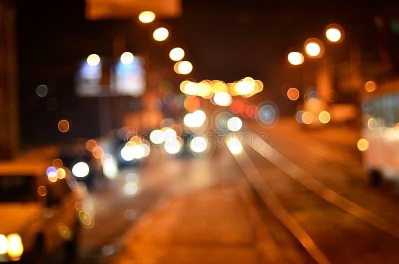 Запачканный ландшафт города ночи стоковые фото