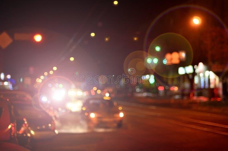 Запачканный ландшафт города ночи стоковые изображения rf