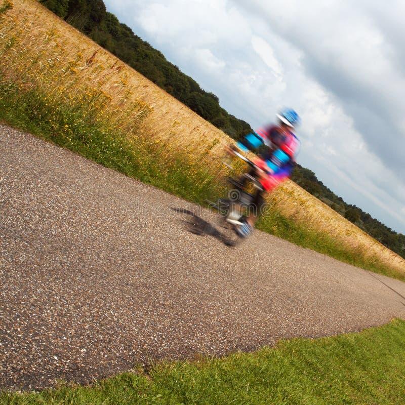 Запачканный велосипедист стоковые изображения