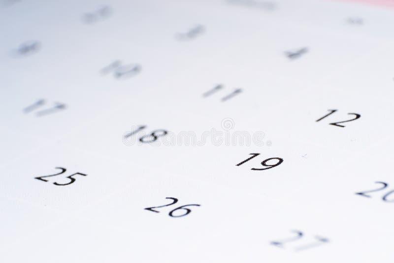 Запачканный конспект календаря, изображение конца-вверх предпосылки стоковые фотографии rf