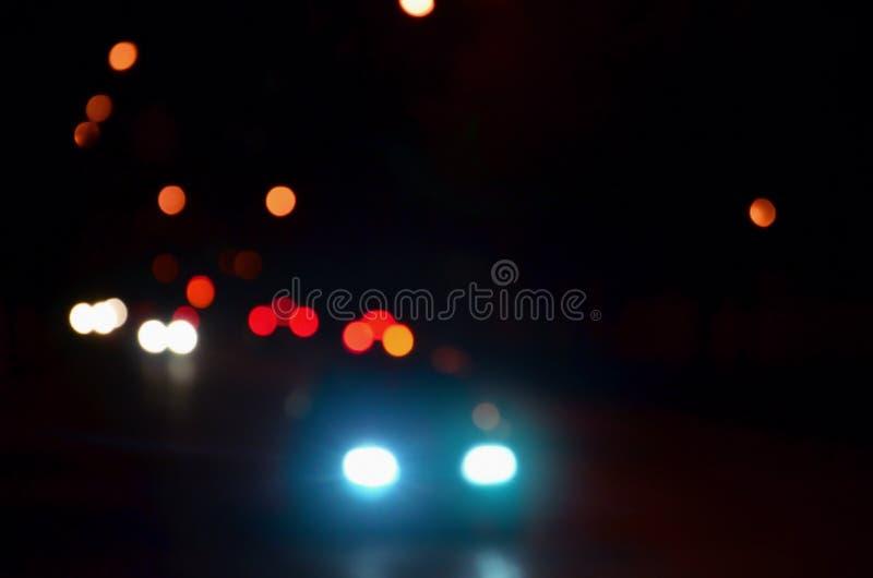 Запачканный ландшафт города ночи стоковые фотографии rf