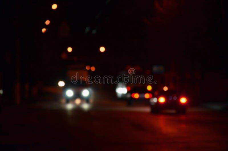 Запачканный ландшафт города ночи стоковое изображение