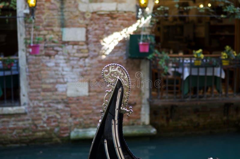Запачканный нос гондолы стоковое изображение