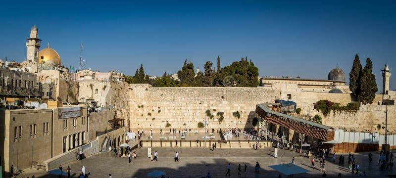 Западная стена, купол утеса, старый город Иерусалима стоковые изображения