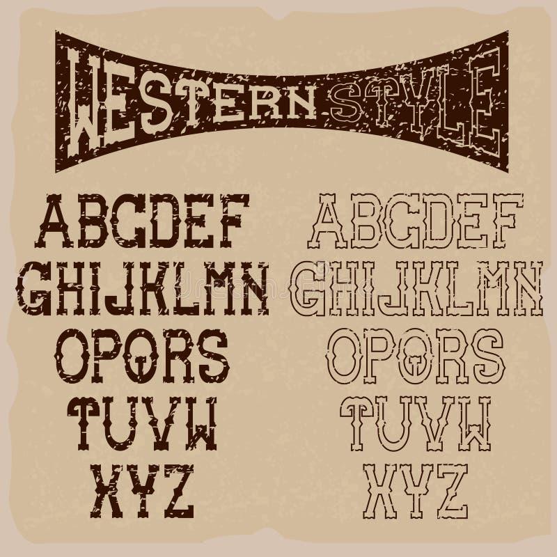 западное искусство алфавита бесплатная иллюстрация