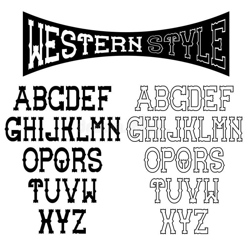 западное искусство алфавита иллюстрация штока
