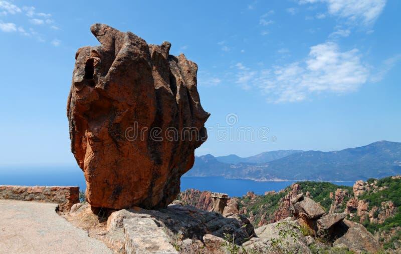Западное побережье острова Корсики стоковое фото