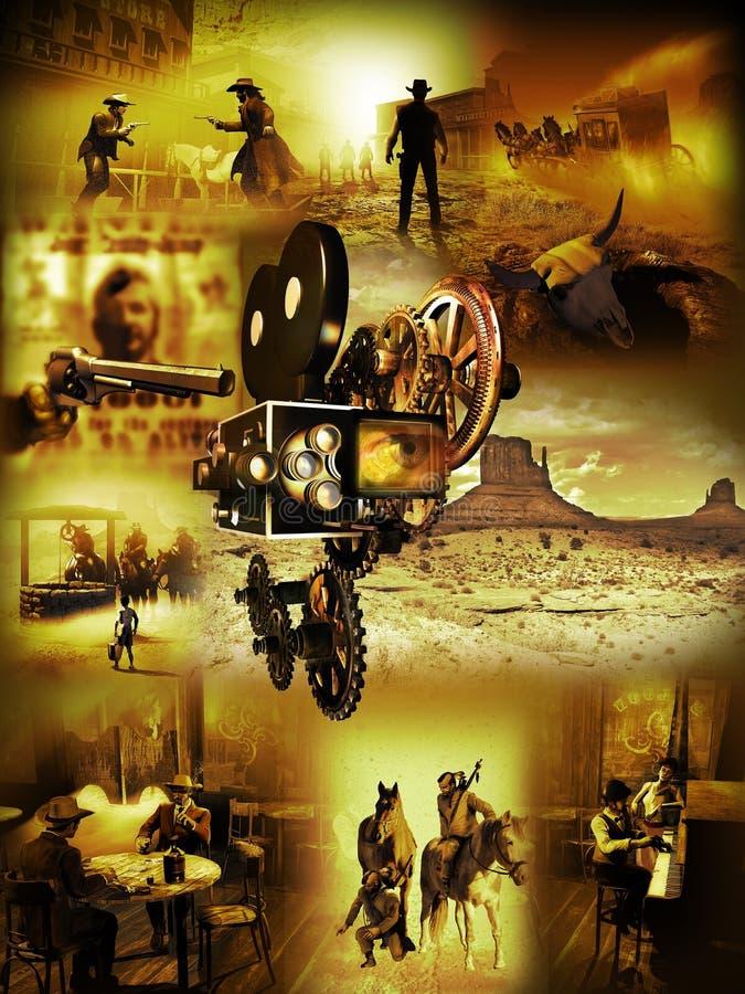 Западные кино иллюстрация штока