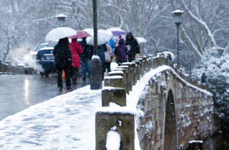 Западный зонтик пешехода озера стоковое фото