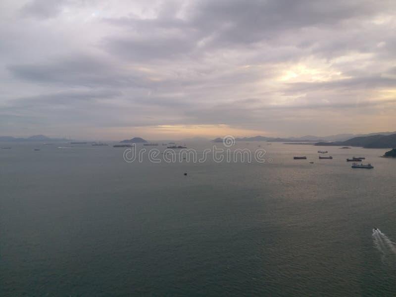 Западный канал Гонконг Lamma стоковое фото rf