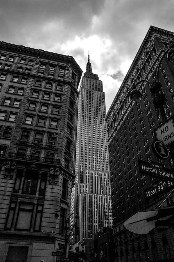 Западный квадрат 34th и глашатого, Манхаттан, NYC стоковые фотографии rf