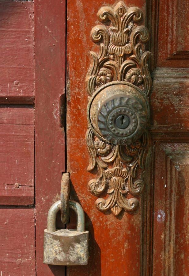 Запертая дверь стоковая фотография rf