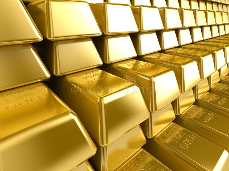 запирает золото иллюстрация вектора