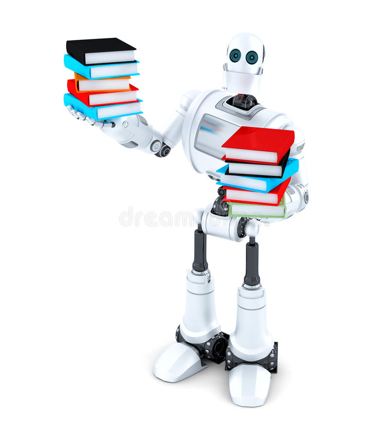 записывает робот Содержит путь клиппирования бесплатная иллюстрация