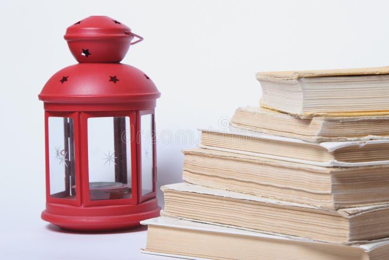 записывает старый стог миражируйте красный цвет светильника стоковые изображения rf