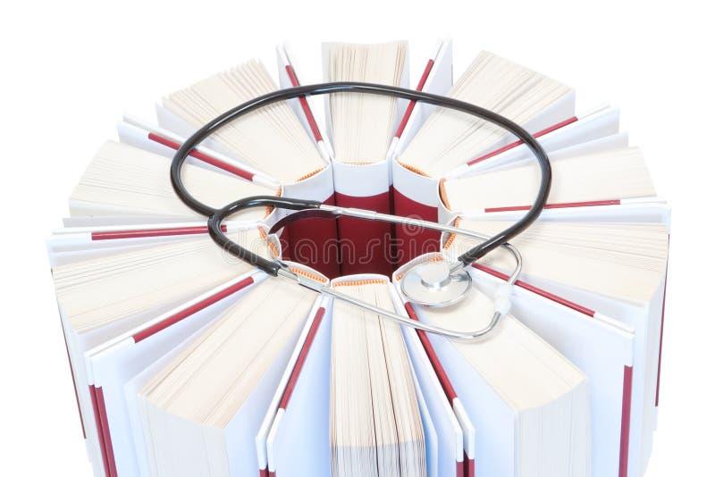 записывает стетоскоп энциклопедий медицинский стоковые изображения rf