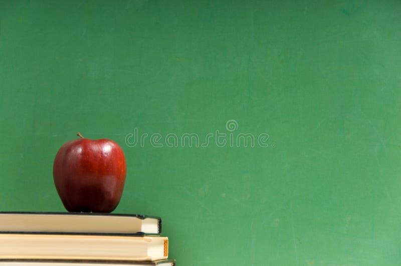 записывает школу chalkboard стоковое изображение