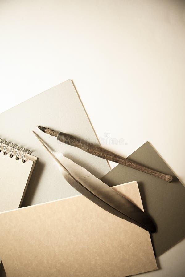 Запись в тетради стоковое изображение rf