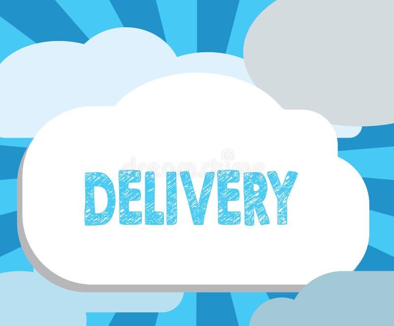 Запись доставки показа примечания Действие фото дела showcasing поставлять пакеты или товары писем давая рождение иллюстрация вектора