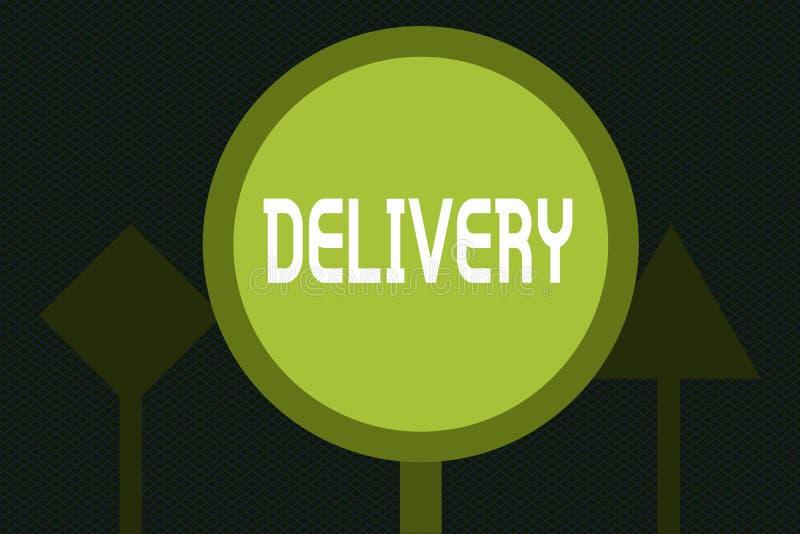 Запись доставки показа примечания Действие фото дела showcasing поставлять пакеты или товары писем давая рождение бесплатная иллюстрация