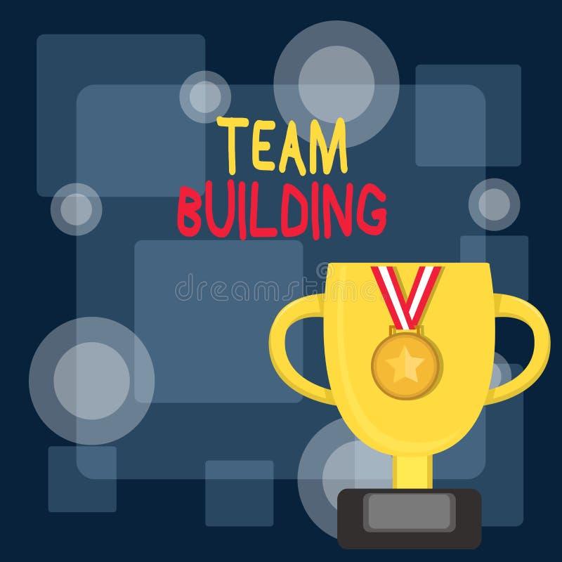 Запись заметки, показывающей Team Building Бизнес-фотопоказ различных видов деятельности, используемых для улучшения социального бесплатная иллюстрация
