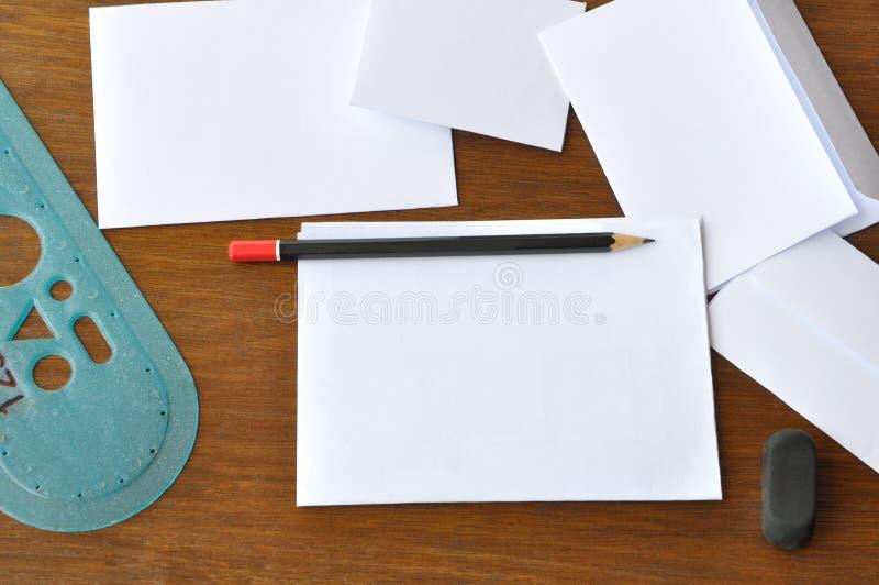 Запись письма стоковые изображения