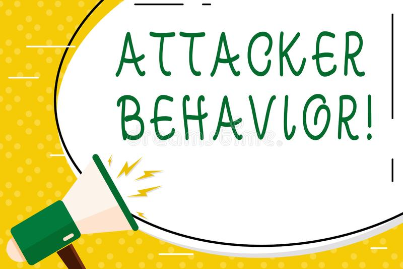 Запись поведения атакующего показа примечания Фото дела showcasing для того чтобы проанализировать и предсказать поведение атакую иллюстрация штока