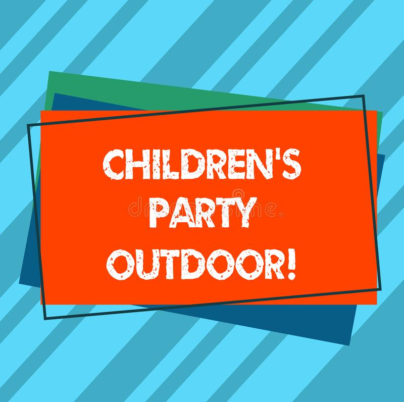 Запись примечания показывая детям s партия на открытом воздухе Праздненство детей фото дела, который showcasing держат вне кучи д бесплатная иллюстрация