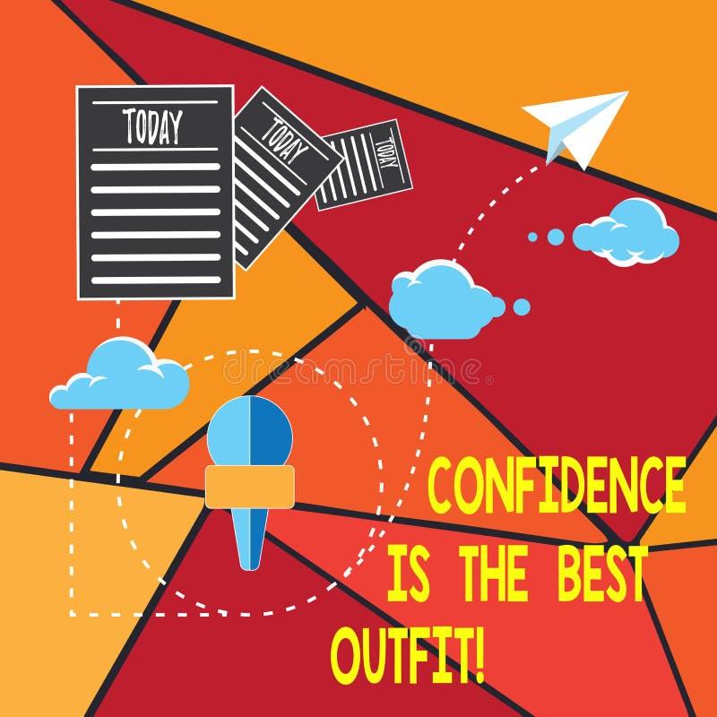 Запись примечания показывая доверие самое лучшее обмундирование Выглядеть самоуважения фото дела showcasing лучшие в вас чем одеж иллюстрация штока