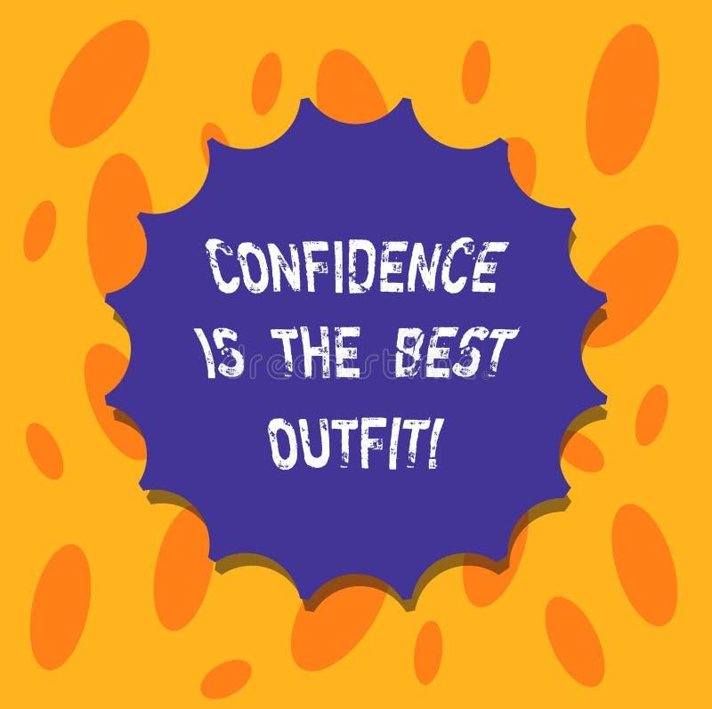 Запись примечания показывая доверие самое лучшее обмундирование Выглядеть самоуважения фото дела showcasing лучшие в вас чем иллюстрация вектора