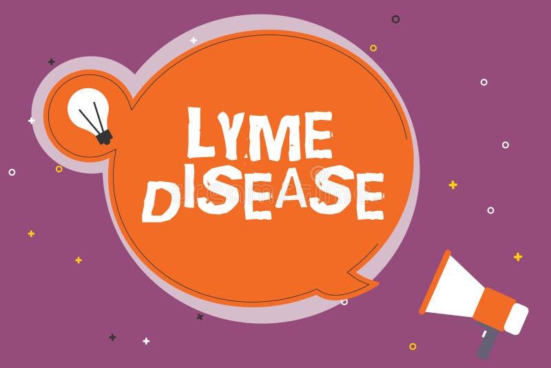 Запись примечания показывая заболевание Lyme Форма фото дела showcasing артрита причиненная бактериями которые получают распростр иллюстрация штока