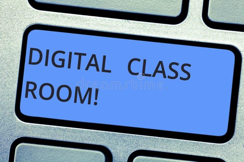 Запись примечания показывая комнату класса цифров Фото дела showcasing где учить и взаимодействие студента с стоковое изображение rf