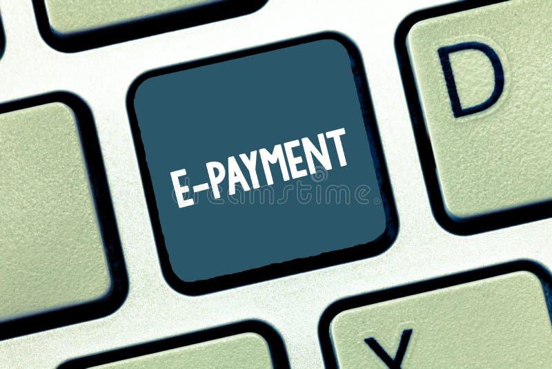 Запись примечания показывая оплату e Путь фото дела showcasing оплачивать для обслуживаний товаров электронно вместо стоковые изображения