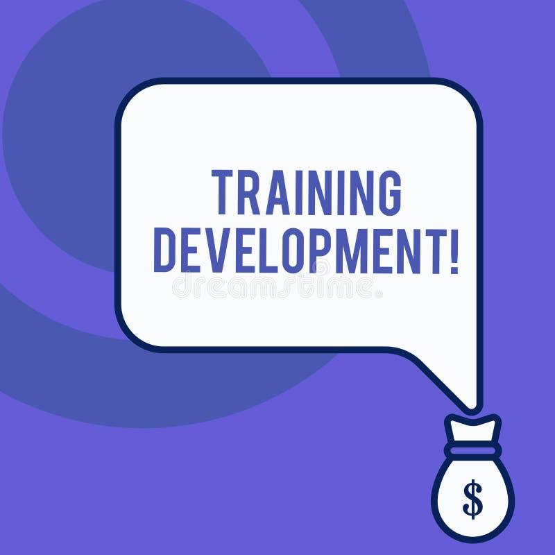 Запись примечания показывая тренируя развитие Showcasing фото дела учит и расширяет навыки и фронт программы знания иллюстрация штока