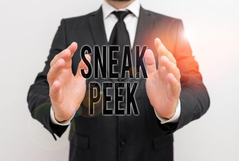 Запись с изображением Sneak Peek Бизнес-фотосюжеты: возможность увидеть что-то до того, как это официально стоковое изображение rf
