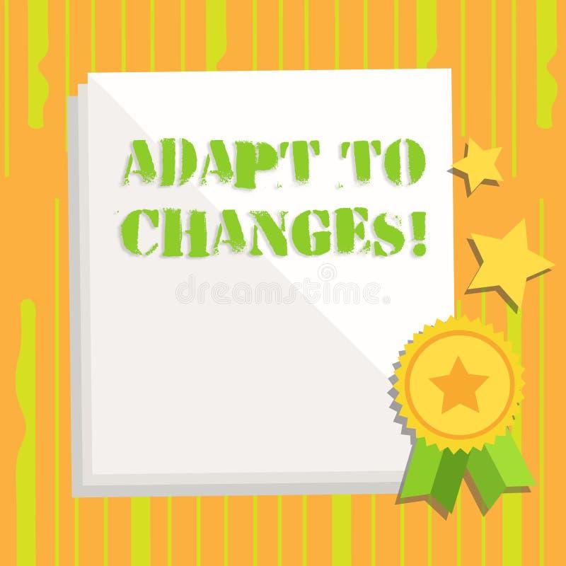 Запись текста почерка приспосабливается к изменениям Приспособление изменений смысла концепции новаторское с технологическим разв бесплатная иллюстрация