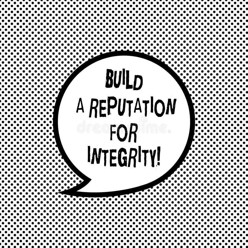 Запись текста почерка строит репутацию для целостности Смысл концепции получает хорошую обратную связь основанную на пробеле этик бесплатная иллюстрация