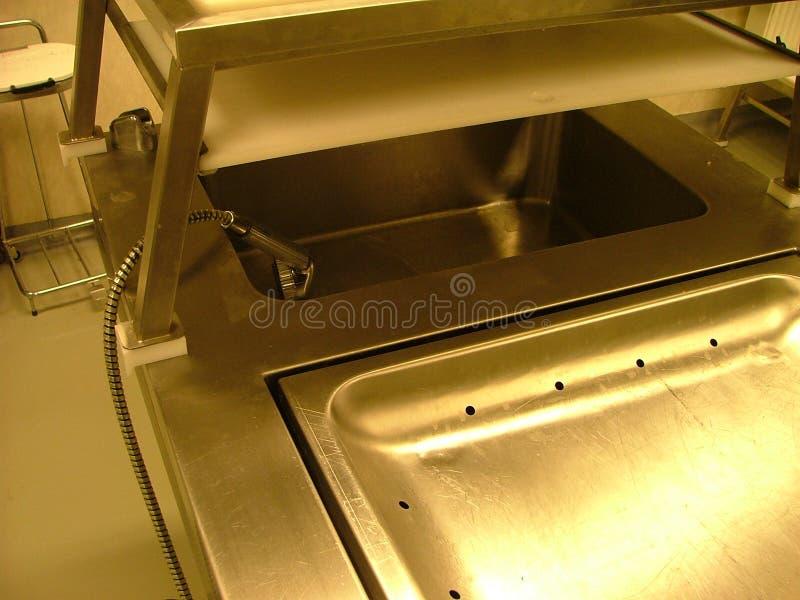 запиток комнаты тазика аутопсии стоковое фото rf