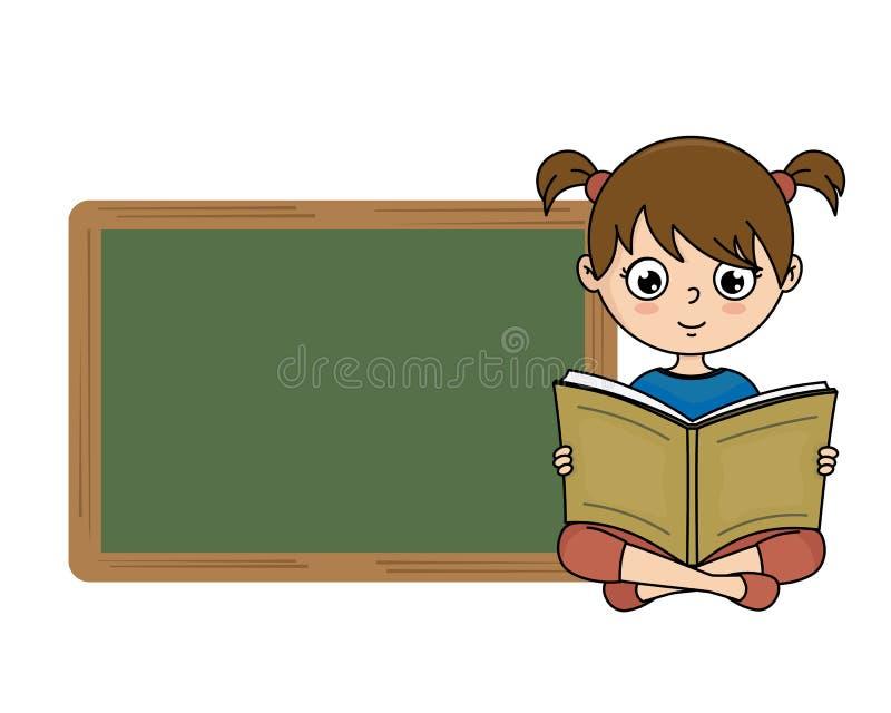 запишите чтение девушки бесплатная иллюстрация