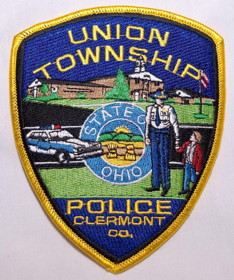 Заплата плеча Управления полиции поселка соединения в Огайо стоковые изображения rf