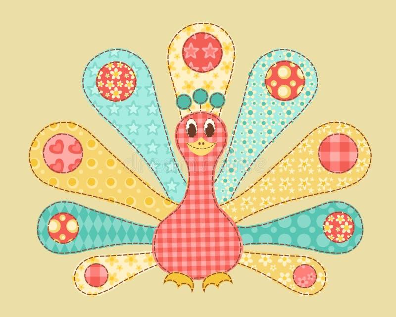 Заплатка павлина. иллюстрация вектора