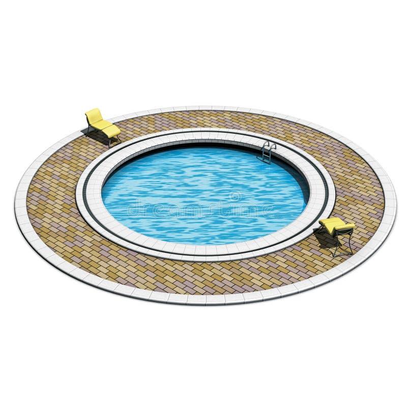 заплывание бассеина круглое иллюстрация штока