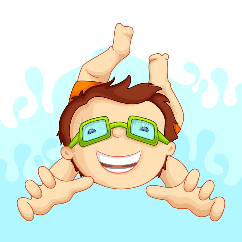 заплывание бассеина малыша иллюстрация вектора