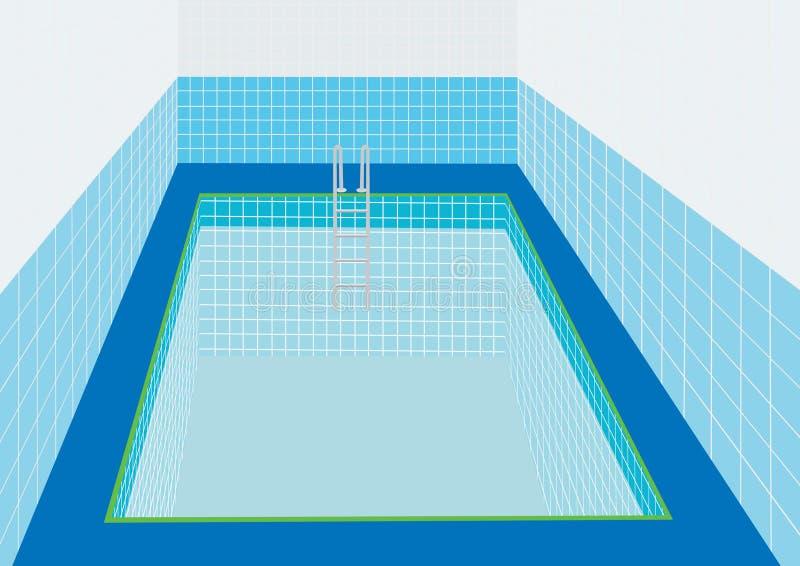 заплывание бассеина иллюстрация вектора